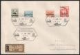 563 - 566, Winterhilfe I auf Reko-Sammlerbrief mit Sonderstempel AUSSTELLUNG FÜR DIE JUGENDPHILATELIE 5. JAN. 1934 WIEN und zusätzlich der Wert zu 1 S + 50 Gr. mit etwas nach oben verschobenem Aufdruck