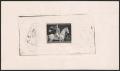 """Deutsches Reich, Ostmark ( Österreich im 3. Reich ), 1943, Nr. 854 P U, Das braune Band 1943 als ungezähnter Einzelabzug im Kleinbogenformat in schwarz auf Cromo-Papier, ohne Gummi wie hergestellt, ATTEST Ludin """"echt und einwandfrei"""" - SEHR SELTEN !"""