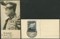 """588, 10 S Dollfuß gestempelt auf sehr dekorativer kleiner Ansichtskarte mit Sonderstempel INNSBRUCK VOLKSTRAUERTAG, ATTEST Soecknick """"echt und einwandfrei"""", DB"""