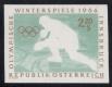 ANK Nr. 1170 FU II, Michel Nr. 1140 FU II, Olympische Winterspiele Innsbruck, 2.20 S Eishockeyspieler ungezähnt mit fehlender Farbe schwarz, postfrisch, ATTEST Dr. Glavanovitz
