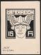 Österreich, 1921, Nicht angenommener Entwurf einer Zeitungsmarke - 15 Heller - vom Maler KARL HUCK, bezeichnet als  JALTA No 4 ZEITUNG - ATTEST Soecknick
