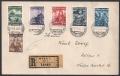 557 - 562, Katholikentag 1933 auf Reko-Brief DB D797