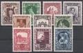 ANK Nr. 827 - 836, Michel Nr. 812 - 821, Wiener Künstlerhaus, postfrisch