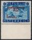 Österreich, 1954, ANK Nr. 1007 P II, MICHEL Nr. 998 P II, Lawinenopfer 1954 in kobalt MIT KARMINROTEM PROBEAUFDRUCK, postfrisch !! - ATTEST Soecknick
