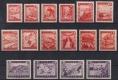 ANK Nr. 847 - 862, Michel Nr. 838 - 853, Landschaften Orange/Violett komplett, postfrisch