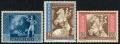 Michel Nr. 820 - 822, ANK Nr. 820 - 822, Europäischer Postkongreß in Wien, postfrisch