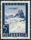 ANK Nr. 825 II, Michel Nr. 827 II, Flugpostausgabe 1947, Wert zu 5 S mit Plattenfehler Punkt im Tal, postfrisch