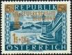 Österreich, 1953, ANK Nr. 996 VI, MICHEL Nr. 983 III, Gewerkschaftsbewegung mit Plattenfehler retuschierter Schlangenkopf, postfrisch