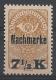 Porto Nr. 102, Freimarke Nr. 262 y mit stahlblauem Aufdruck, postfrisch