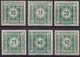 Porto Nr. 112 - 117, Ziffernzeichnungen Ergänzungsmarken ( Kronenwerte im kleinen Format ), postfrisch