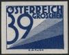 """Österreich, 1925, ANK Porto Nr. 152 U, MICHEL Porto Nr. 152 U, Ziffernzeichnung, 39 Groschen UNGEZÄHNT, postfrisch, ATTEST Soecknick """"echt und einwandfrei"""" - UNGEZÄHNT IST DIESER WERT SEHR SELTEN !!"""