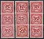 Porto Nr. 75 - 83, Neue Ziffernzeichnung gezähnt, postfrisch