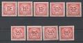 Porto Nr. 93 - 101, Neue Ziffernzeichnung ungezähnt, postfrisch