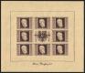 Österreich, 1946, ANK Nr. 780 A - 783 A, MICHEL Nr. 772 B - 775 B, Renner Block bzw. Renner Kleinbogen, postfrisch, ATTEST Soecknick