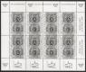 Schwarzdruck-Kleinbogen, Tag der Briefmarke 1997, postfrisch