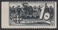1938, Schuschnigg - Wahlwerbevignetten, Wert zu 10 Groschen in Grauschwarz, Randstück vom linken Bogenrand, postfrisch, Luxuserhaltung, DB D537