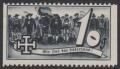 1938, Schuschnigg - Wahlwerbevignetten, Wert zu 10 Groschen in Grauschwarz, Randstück vom rechten Bogenrand, postfrisch, Luxuserhaltung, DB