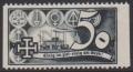 1938, Schuschnigg - Wahlwerbevignetten, Wert zu 50 Groschen in Grauschwarz, Randstück vom rechten Bogenrand, postfrisch, Luxuserhaltung, DB D537