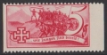 Österreich, 1938, Schuschnigg - Wahlwerbevignetten, Wert zu 5 Groschen in Rot, Randstück vom rechten Bogenrand, postfrisch, Luxuserhaltung, DB