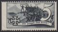1938, Schuschnigg - Wahlwerbevignetten, Wert zu 5 Groschen in Grauschwarz, Randstück vom linken Bogenrand, postfrisch, Luxuserhaltung, DB