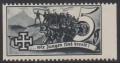 1938, Schuschnigg - Wahlwerbevignetten, Wert zu 5 Groschen in Grauschwarz, Randstück vom rechten Bogenrand, postfrisch, Luxuserhaltung, DB