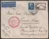 """Michel Nr. 439 I. + 416, Südamerikafahrt 4 RM mit Plattenfehler """"Blitz neben Adler"""" auf Brief ab Friedrichshafen nach Buenos Aires, seltene Bedarfspost !!!"""