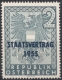 ANK Nr. 1026, Michel Nr. 1017, Staatsvertrag 1955 per 5 Stück, postfrisch, ANK € 20,-- DB D637