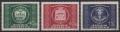 ANK Nr. 955 - 957, Michel 943 - 945, 75 Jahre Weltpostverein UPU 1949, postfrisch