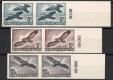 Österreich, 1950/53, ANK Nr. 967U-973U a+b+c, MICHEL Nr. 955U,956U,968U x+y+z,984U-987U, Flugpostserie