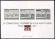 """Österreich, 1981, ANK Nr. 1696 A = ANK Block 7, MICHEL Nr. 1665 = MICHEL Block 5, Internationale Briefmarkenausstellung """"WIPA 1981"""" als WIPA-Schwarzdruck-Phasenblock mit WIPA-Emblem schwarz/rot"""