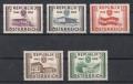 ANK Nr. 1021 - 1025, Michel Nr. 1012 - 1016, 10 Jahre Wiederherstellung der Unabhängigkeit der Republik Österreich, postfrisch