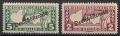 252 A - 253 A, Eilmarken Merkurkopf mit Aufdruck Deutsch-Österreich in Lz. 12 ½, postfrisch